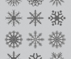 Snowflakes design vector set