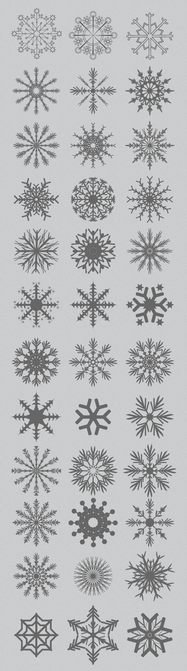 Snowflakes design vector set