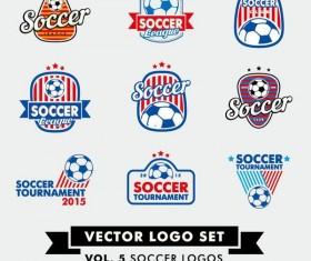 Soccer logos set vector