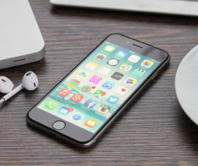 Social Media Apps on iPhone Stock Photo 03