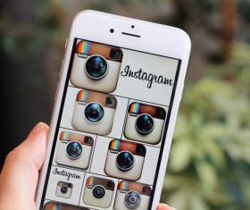 Social Media Apps on iPhone Stock Photo 08