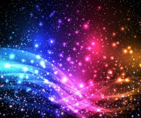 Stars light background with abstract vectors