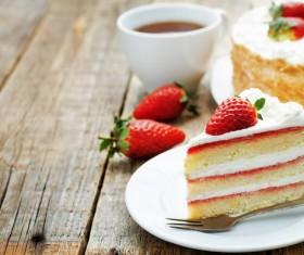 Strawberry layer cake Stock Photo