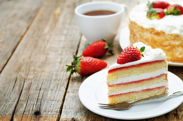 Strawberry layer cake Stock Photo - Food stock photo free ...