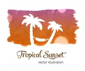Summer watecolor illustration vector 05