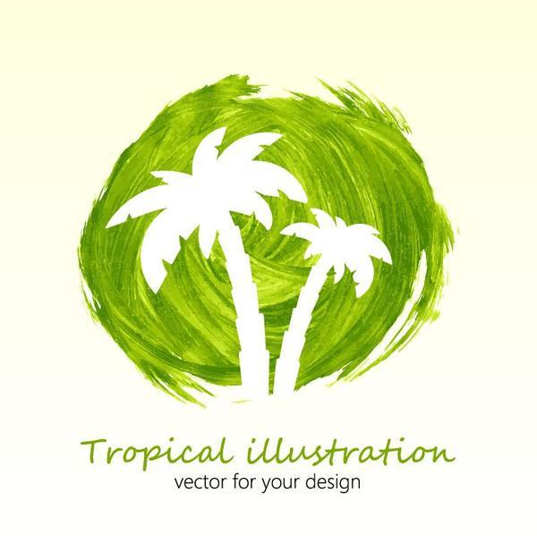 Summer watecolor illustration vector 07