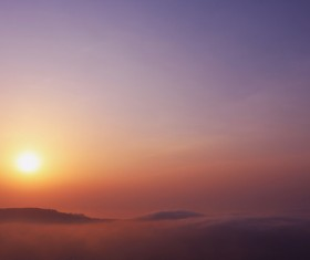 Sunlight on high cloudy atmosphere Stock Photo