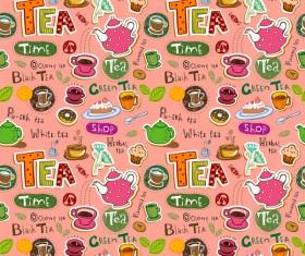 Tea seamless pattern vectors 06