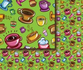 Tea seamless pattern vectors 10