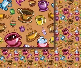 Tea seamless pattern vectors 11