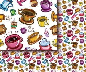 Tea seamless pattern vectors 12
