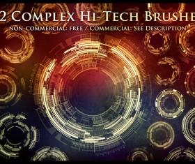Tech Sci-Fi Circle Photoshop Brushes