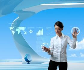 Technology future development trend Stock Photo 05