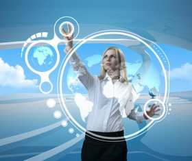 Technology future development trend Stock Photo 06