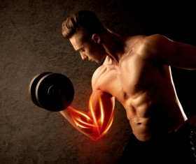 The man who exercises muscles Stock Photo 11