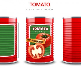 Tomato juice with sauce package vector material 01