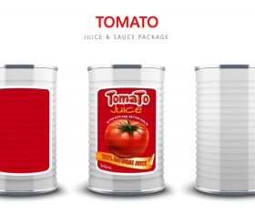 Tomato juice with sauce package vector material 03