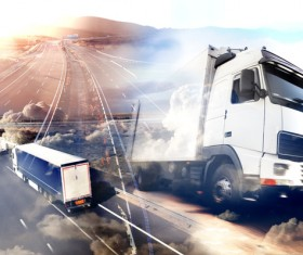 Truck Freight Transport Logistics Stock Photo 09