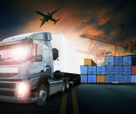 Truck Freight Transport Logistics Stock Photo 11
