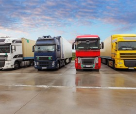 Truck Freight Transport Logistics Stock Photo 14