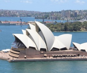 Unique Sydney Opera House building Stock Photo