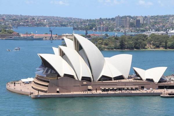 Unique Sydney Opera House building Stock Photo