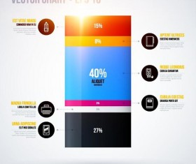 Vector chart infographic template 01