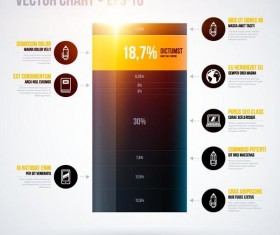 Vector chart infographic template 02