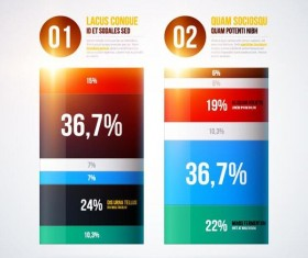 Vector chart infographic template 03