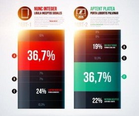 Vector chart infographic template 04