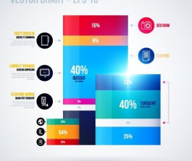 Vector chart infographic template 06