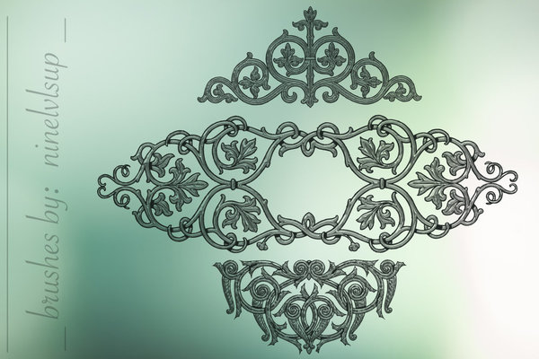 Victorian Embellishments photoshop brushes