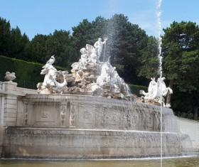 Vienna sculpture fountain Stock Photo