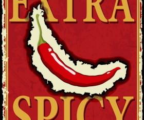 Vintage pepper poster design vector