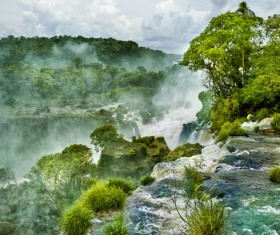 Waterfalls in tropical rain forests Stock Photo 03