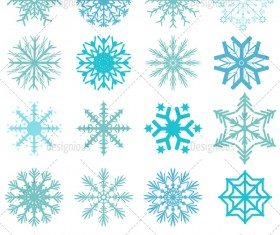 Winter snowflake vector set