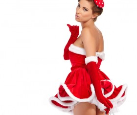 Woman wearing Christmas costume Stock Photo 01