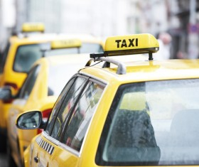 Yellow Taxi Stock Photo 01
