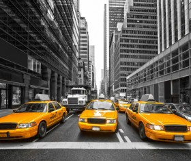 Yellow Taxi Stock Photo 02