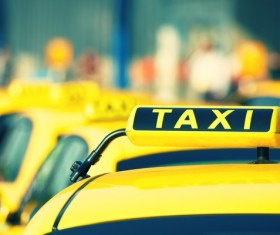 Yellow Taxi Stock Photo 03