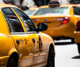 Yellow Taxi Stock Photo 04