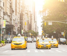 Yellow Taxi Stock Photo 05
