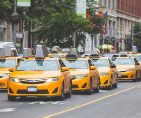 Yellow Taxi Stock Photo 06