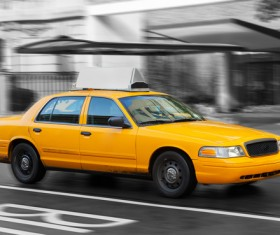 Yellow Taxi Stock Photo 07