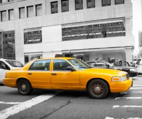 Yellow Taxi Stock Photo 08