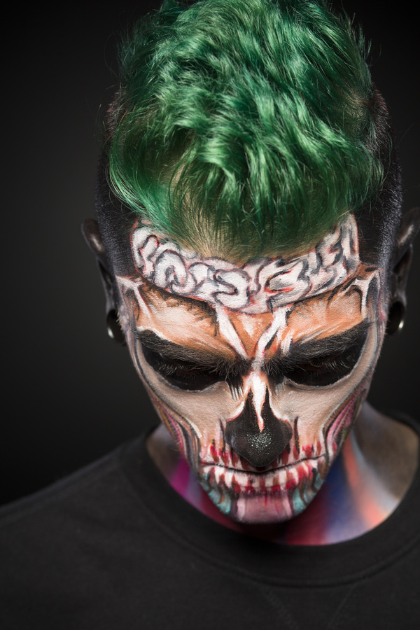 Young zombie Halloween fashion make up Stock Photo 03
