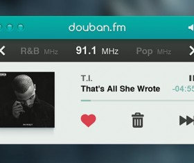 douban radio player PSD UI