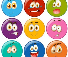 funny circles expression icons