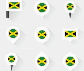 jamaica pins design vector