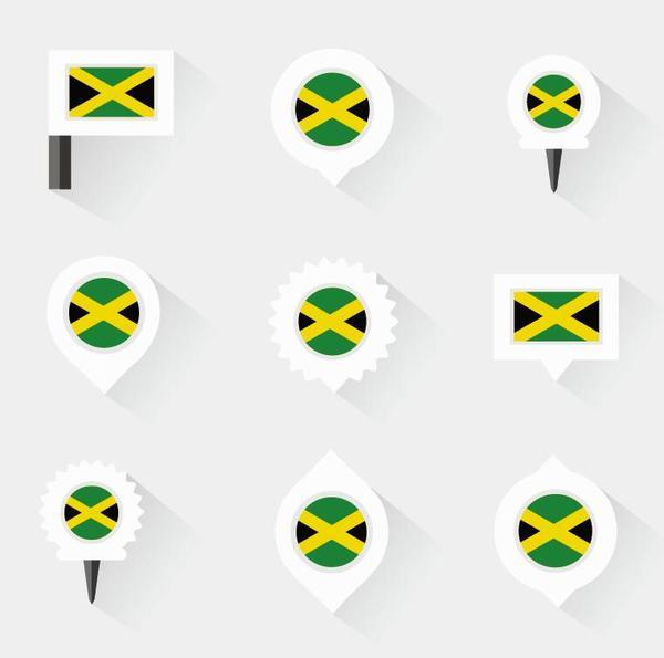 jamaica pins design vector